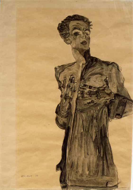 Self-Portrait with lowered Head Egon Schiele austriaci pittore B a3 01609